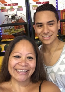 Roblynn Wailana Desalia-Duarte and son Makamae