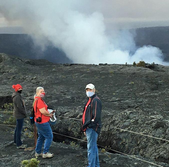 UH Hilo leaders get close look at eruption work