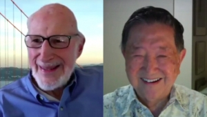 headshots of Norm Abramson and Frank Kuo