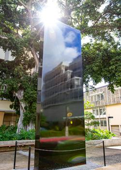 The monolith on U H Manoa campus