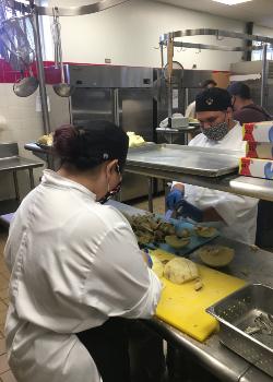 students preparing ulu