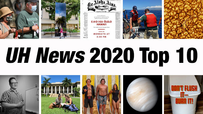 Thumbnails of UH News stories