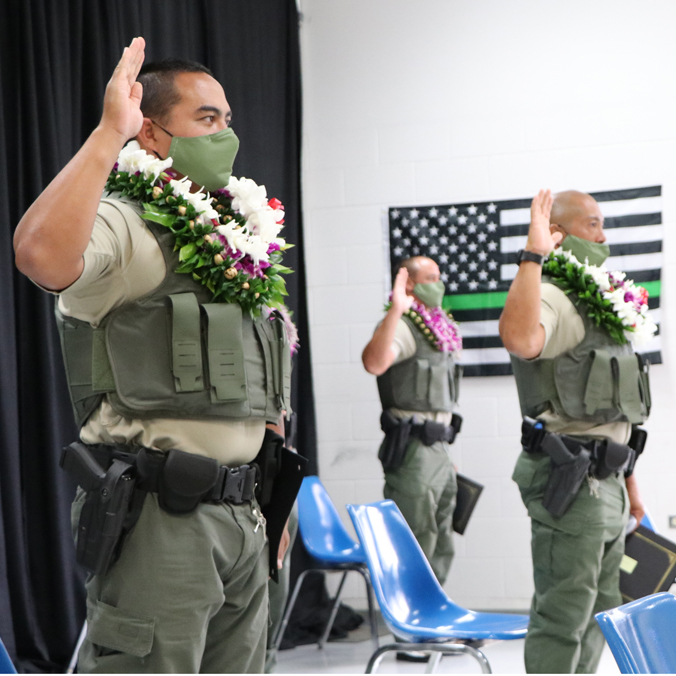 Honolulu CC collaborates to train state conservation officers