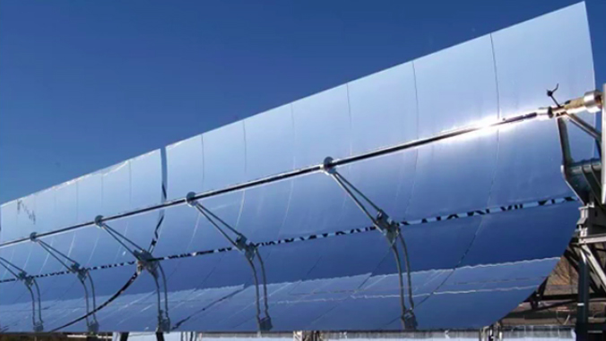 concentrated solar power plant panels