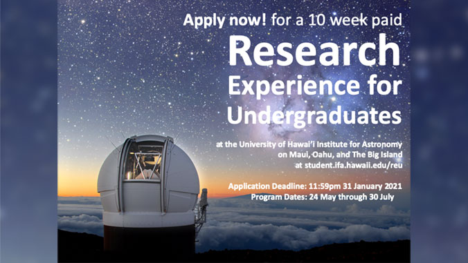 flyer for research experience for undergraduates