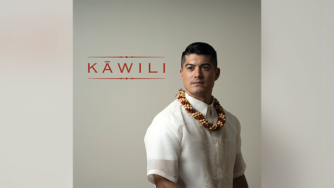 musical album cover of man with a lei