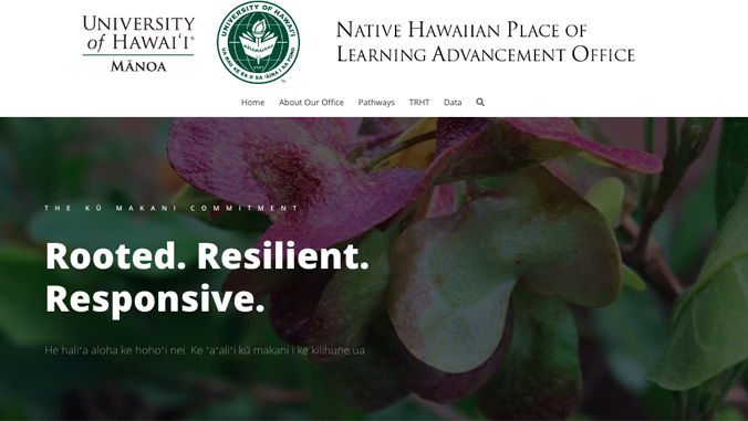 Native Hawaiian Place of Learning Advancement Office website