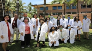 group of physicians with masks