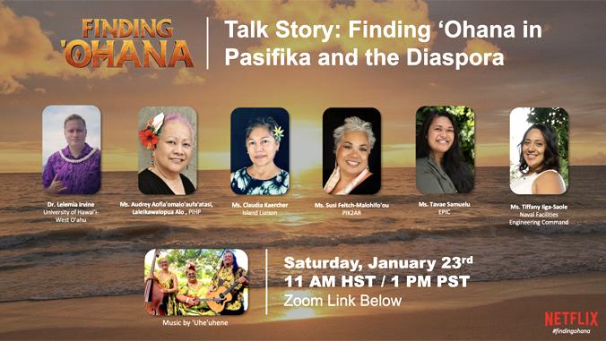 Finding Ohana talk story flyer