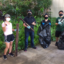 UH Mānoa engineering students conduct campus cleanup event