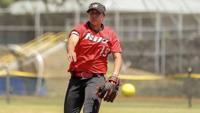 U H Hilo softball pitcher