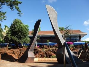 sculpture on Kapiolani C C campus