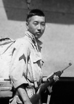 Teraoka in WW2 uniform
