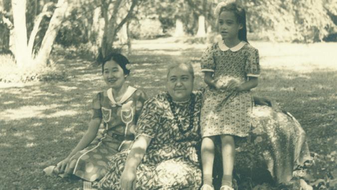 Patience Namaka Wiggin, Mary Kawena Pukui and Pele Pukui