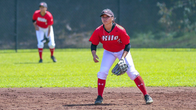 U H Hilo softball player