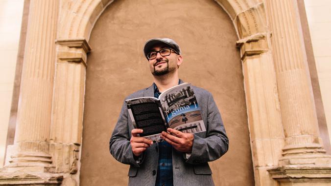 Perez holding his book