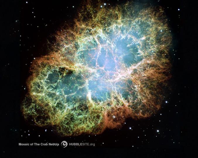 Mosaic of the Crab Nebula  - manoa ifa crab nebula - UH to lead NASA space telescope study on nature of dying stars