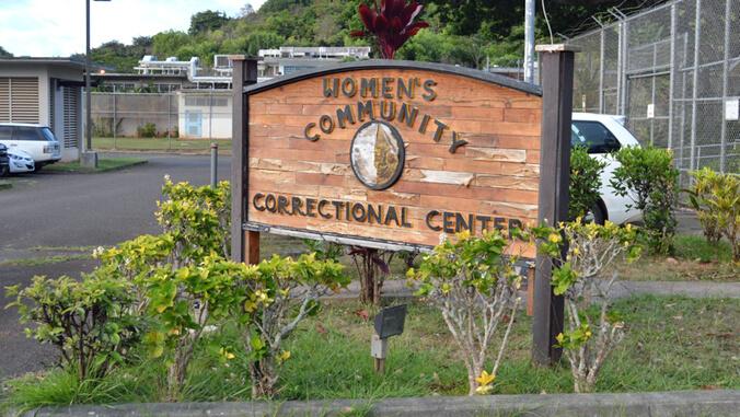 Women's Community Correctional Center sign