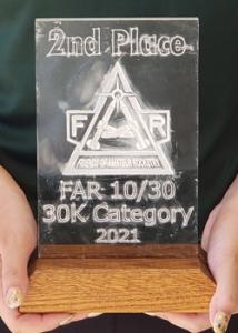 second place trophy