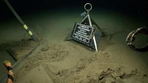 plaque on ocean seafloor