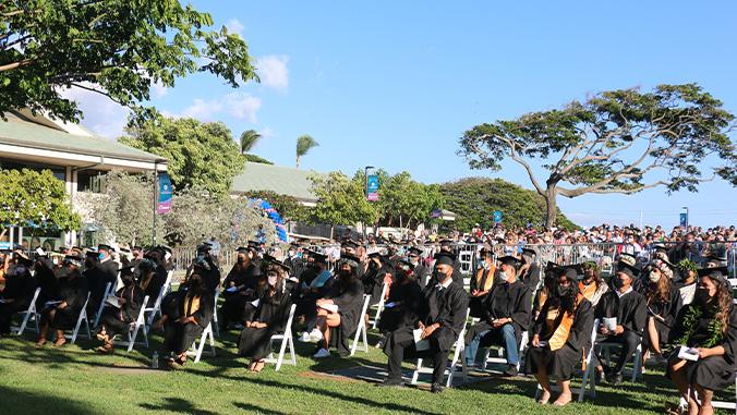 Graduates seated