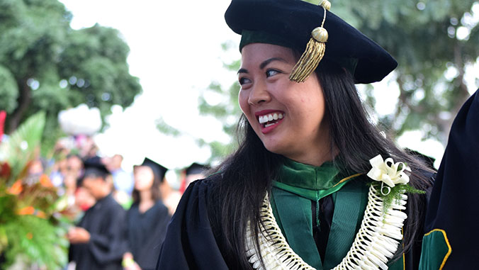 woman at commencement