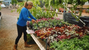 Mikyla Hiilani Thomas working with vegetables