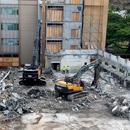 Crews finish razing Snyder Hall, campus improvement plans advance