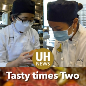 2 culinary students cooking