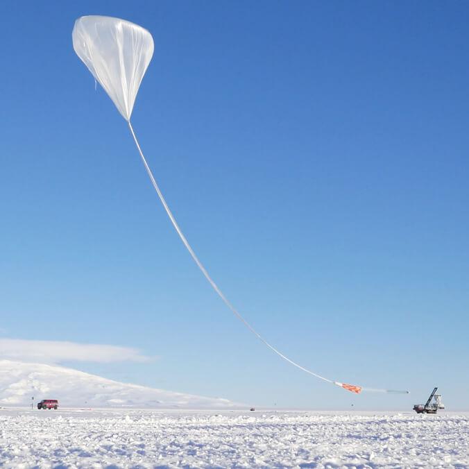balloon flying in Antarctica