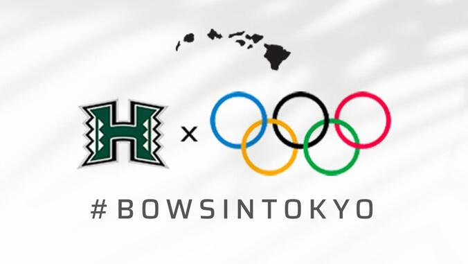 U H athletics logo and Olympic logo