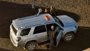 Rangers assisting visitors on Maunakea