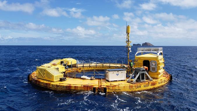wave energy converter in the ocean