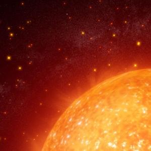 giant red star illustration