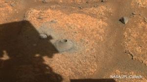 drill hole on mars