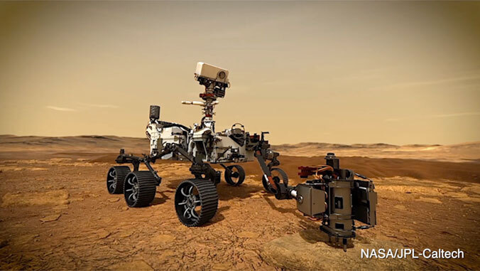 mars rover drilling