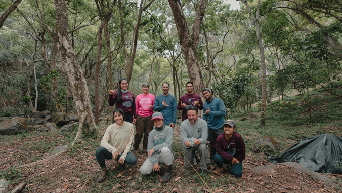 Group in the forest (Image credit: Anianikū Chong)