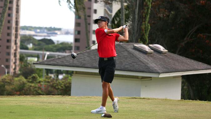 U H Hilo golfer