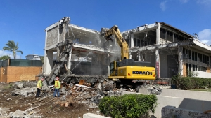 building being torn down