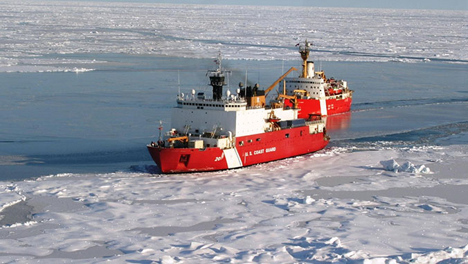 boat in the arctic