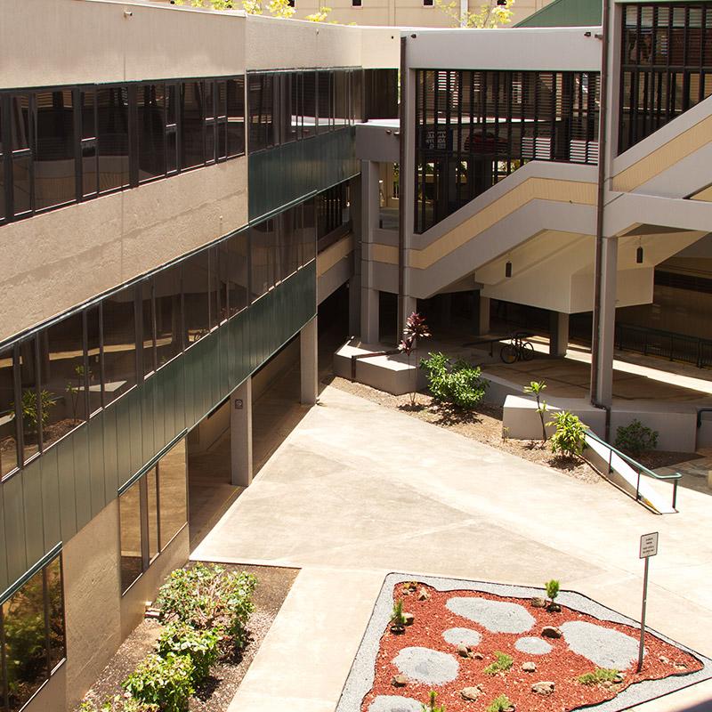 UH Manoa Athletics Courtyard