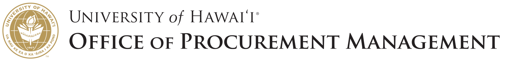 University of Hawaiʻi Office of Procurement Management
