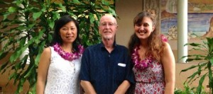 photo of Dr. Zheng, Dr. Crookes and PhD Student Angela Haeusler
