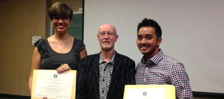 photo of student award recipients and SLS Department Chair