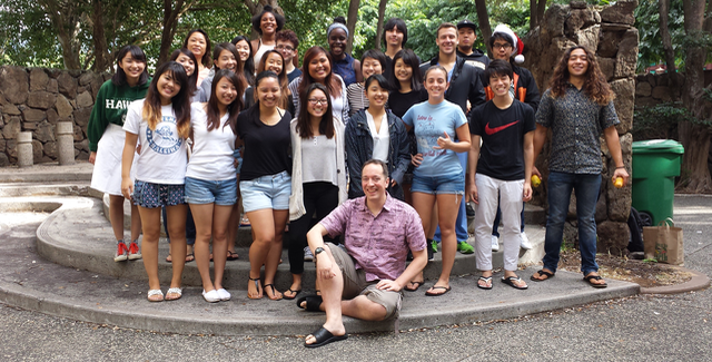 Photo of Mark Wilding with SLS 150 course students