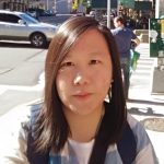 Image of Ms. Chen at crosswalk