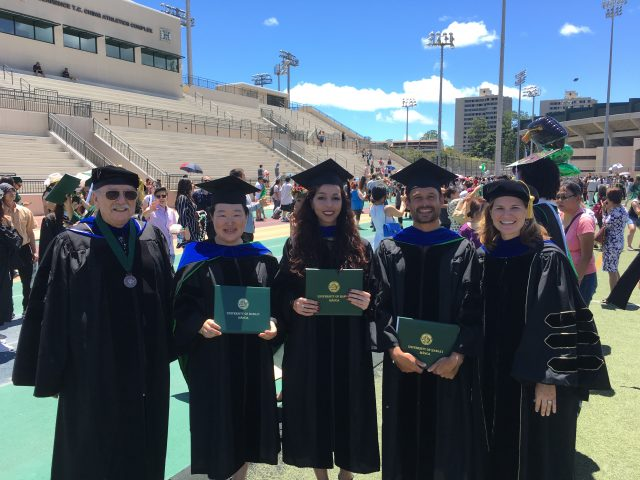 photo of 2019 PhD graduates with SLS faculty
