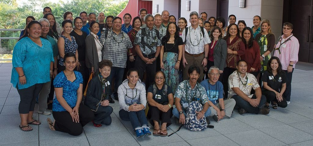 UH President David Lassner convened stakeholders from across the campuses to work on integration of `Ike Hawaii, Malama Honua, STEM and Sustainability.