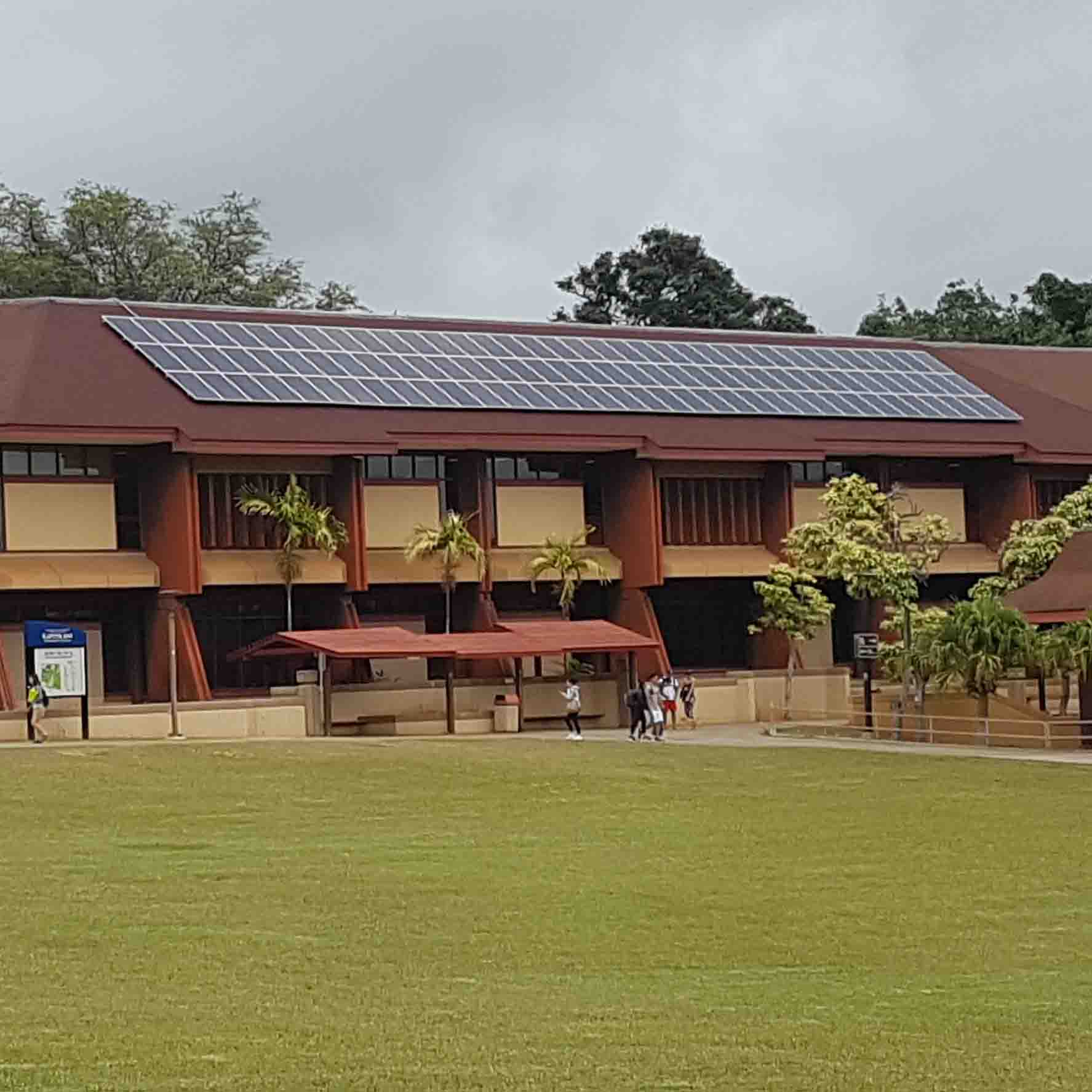 Lama Library rooftop solar array