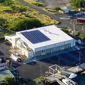 Marine Education Training Center rooftop solar array